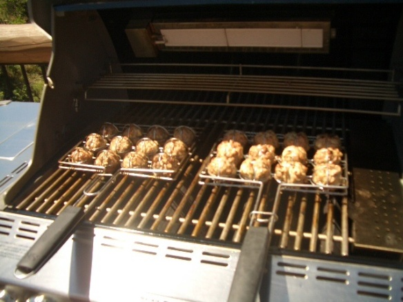 Grilled meatballs. Anything is possible with the right equipment!